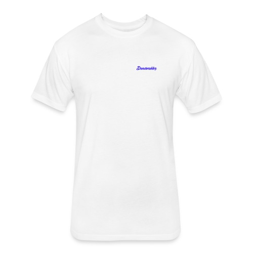 Logo Blue - Fitted Cotton/Poly T-Shirt by Next Level