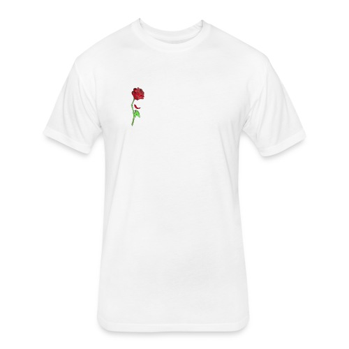 Galaxy Rose - Fitted Cotton/Poly T-Shirt by Next Level