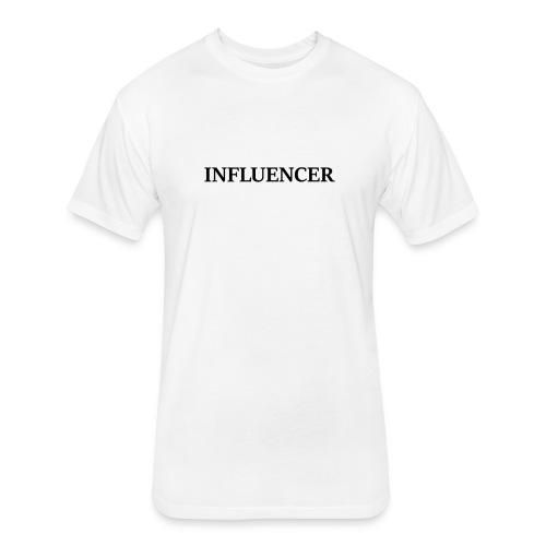 influencer black - Fitted Cotton/Poly T-Shirt by Next Level