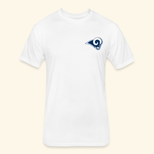 LA Rams T-shirt - Fitted Cotton/Poly T-Shirt by Next Level