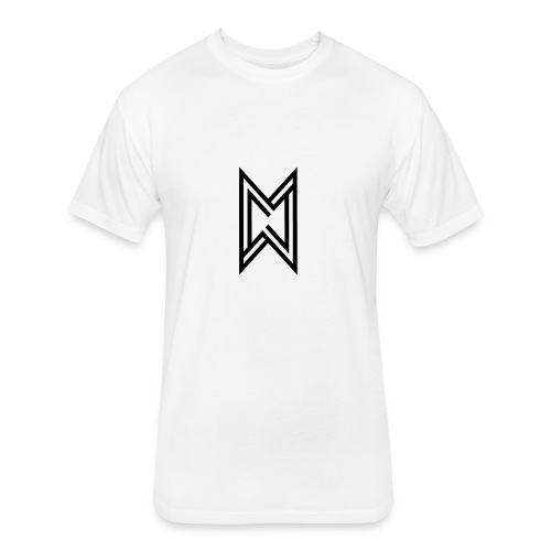 Black Logo White T-Shirt - Fitted Cotton/Poly T-Shirt by Next Level