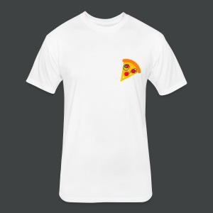 Cartoony Pizza Logo - Fitted Cotton/Poly T-Shirt by Next Level