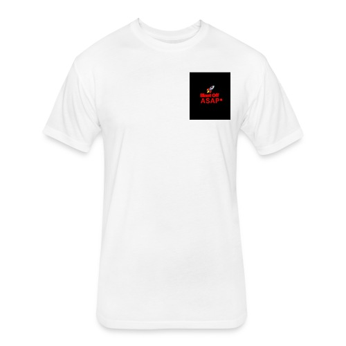 Blast off Asap logo - Fitted Cotton/Poly T-Shirt by Next Level