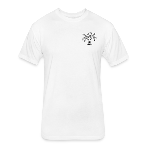 Palm tree embroidery - Fitted Cotton/Poly T-Shirt by Next Level