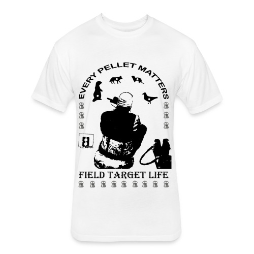 T-shirt Every Pellet Matters Air Rifle Target - Fitted Cotton/Poly T-Shirt by Next Level