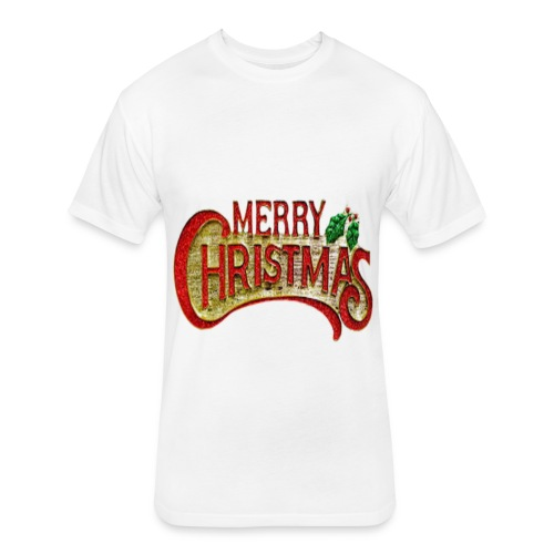 merrychristmas tshirts - Fitted Cotton/Poly T-Shirt by Next Level