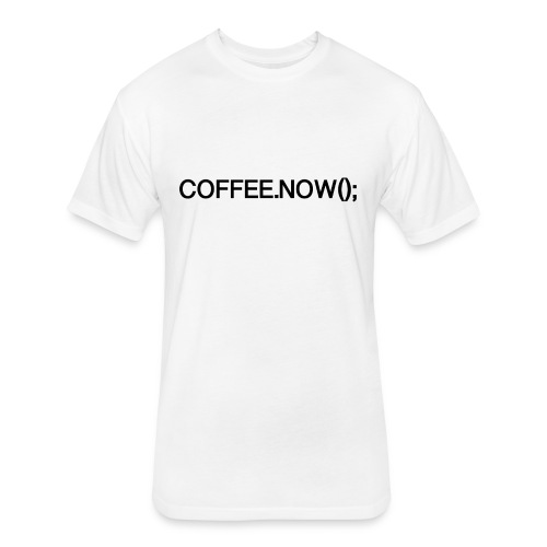 Coffee.now() - Fitted Cotton/Poly T-Shirt by Next Level
