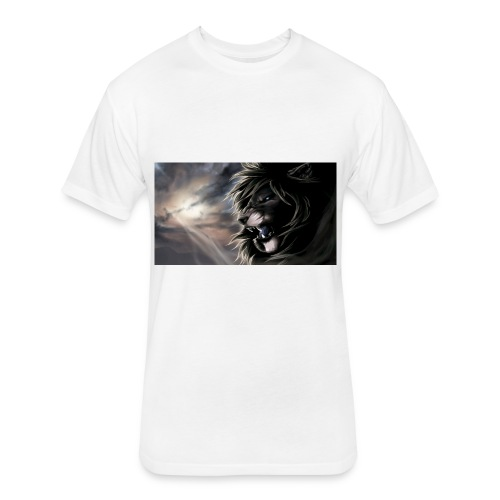 3D Lion tshirt - Fitted Cotton/Poly T-Shirt by Next Level
