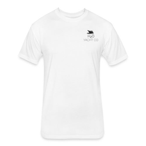H2O Yacht Co. Black - Fitted Cotton/Poly T-Shirt by Next Level