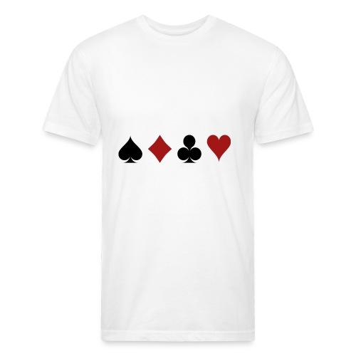 cartes 159600 1280 - T-shirt ajusté poly/coton pour hommes