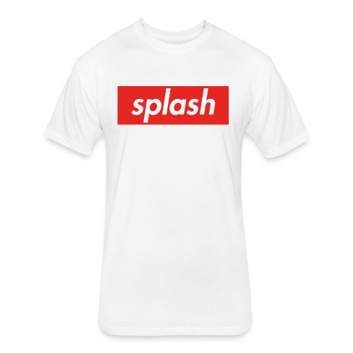 Splash #1 - Fitted Cotton/Poly T-Shirt by Next Level