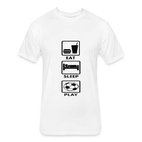 Football - Fitted Cotton/Poly T-Shirt by Next Level
