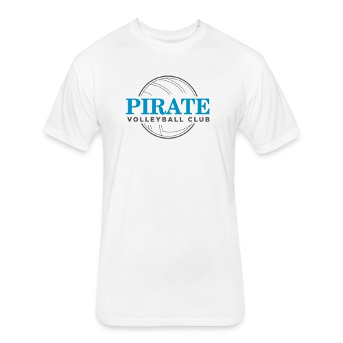 Pirate Volleyball Club Logo - Fitted Cotton/Poly T-Shirt by Next Level