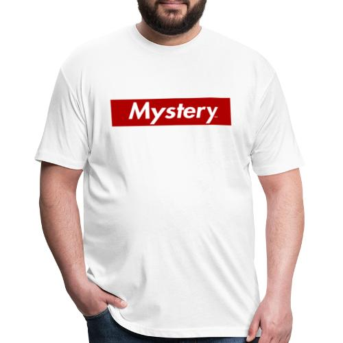 Mystery Mark Box Logo - Fitted Cotton/Poly T-Shirt by Next Level