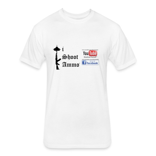 iShootAmmo Logo Youtube & Facebook - Fitted Cotton/Poly T-Shirt by Next Level