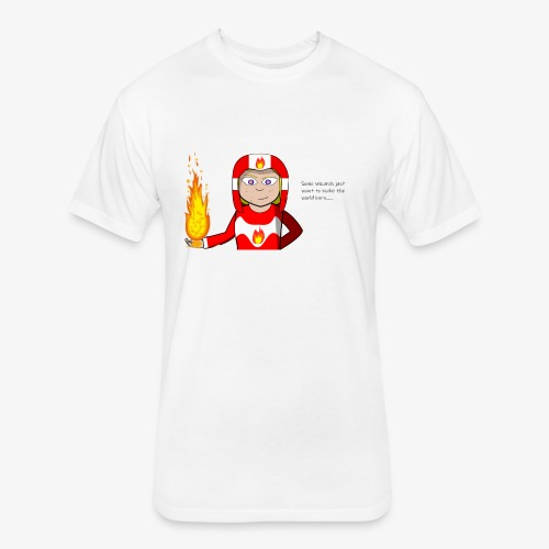 Fireworld - Fitted Cotton/Poly T-Shirt by Next Level