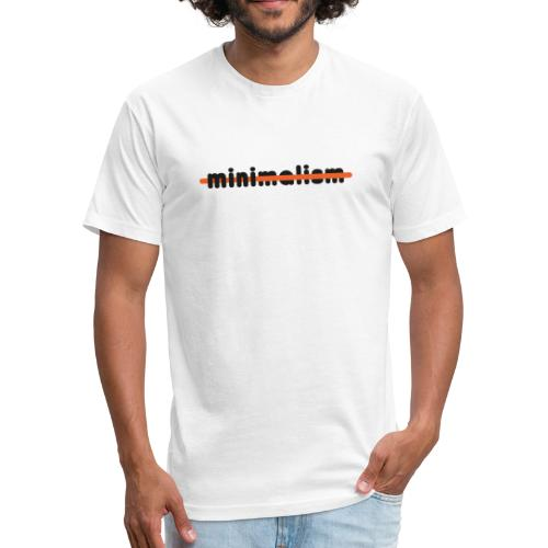 minimalism - Fitted Cotton/Poly T-Shirt by Next Level