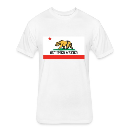 The Real California Flag - Fitted Cotton/Poly T-Shirt by Next Level