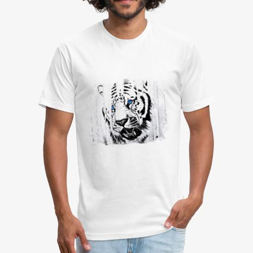 White Tiger Vintage Circus Cartel - Fitted Cotton/Poly T-Shirt by Next Level
