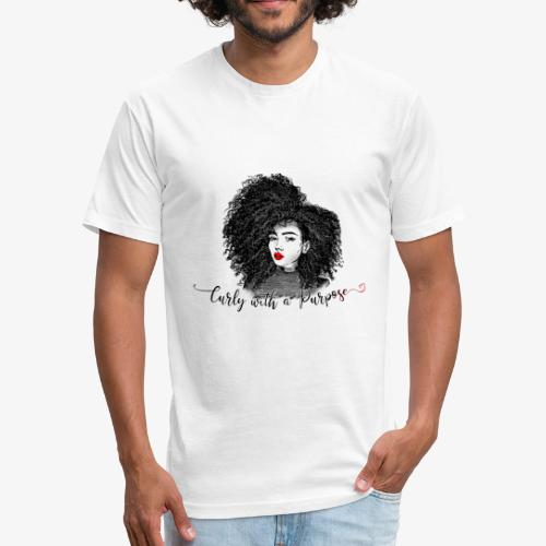 Curly With A Purpose - Fitted Cotton/Poly T-Shirt by Next Level