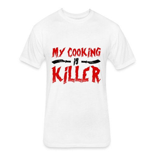 Killer Cooking - Fitted Cotton/Poly T-Shirt by Next Level