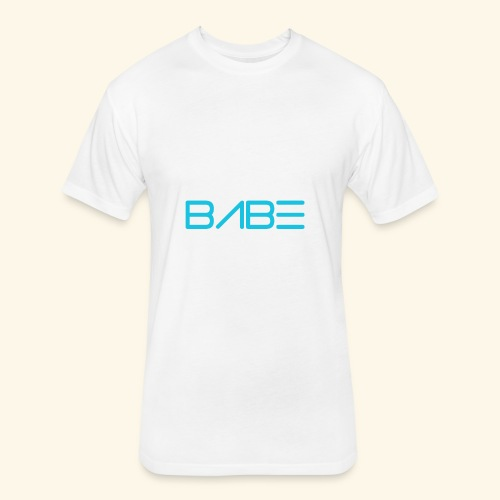 White BABE T-Shirt - Fitted Cotton/Poly T-Shirt by Next Level