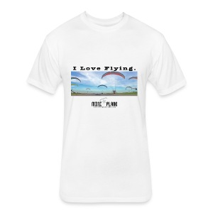 i love flying1 - Fitted Cotton/Poly T-Shirt by Next Level