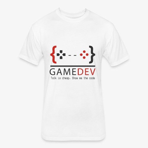 Game Developer - Fitted Cotton/Poly T-Shirt by Next Level
