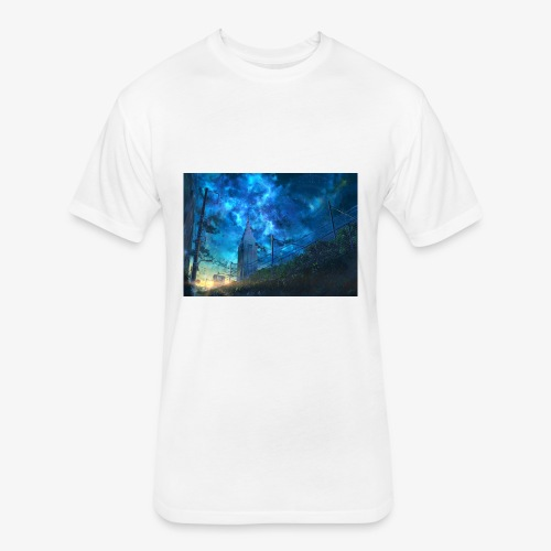 blue sky - Fitted Cotton/Poly T-Shirt by Next Level
