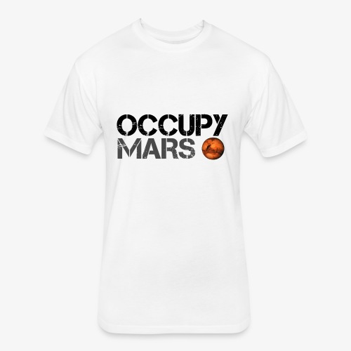 Occupy Mars - Space Planet - SpaceX - Fitted Cotton/Poly T-Shirt by Next Level