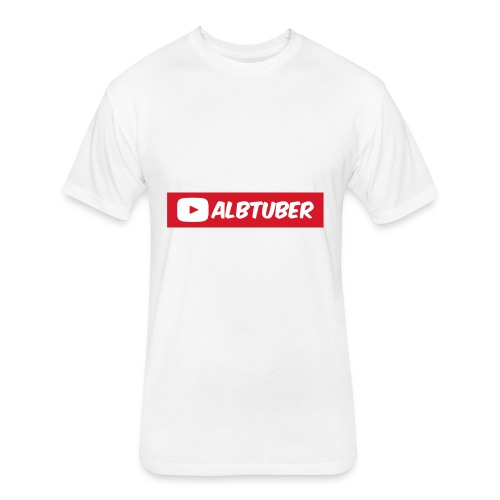 AlbTuber Logo - Fitted Cotton/Poly T-Shirt by Next Level