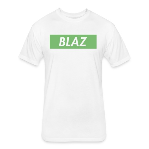 BLAZ LOGO - Fitted Cotton/Poly T-Shirt by Next Level
