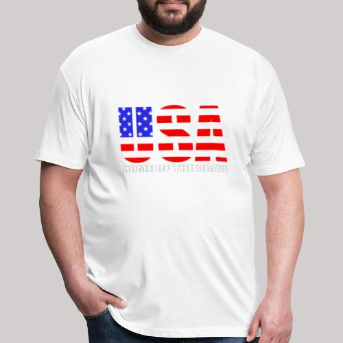 USA Home Of The Brave - Fitted Cotton/Poly T-Shirt by Next Level