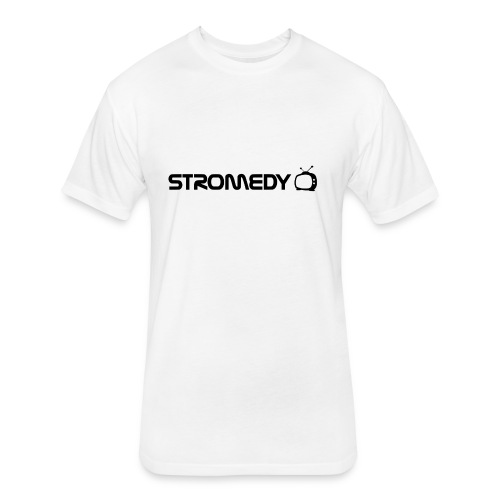 White Stromedy T-Shirt - Fitted Cotton/Poly T-Shirt by Next Level