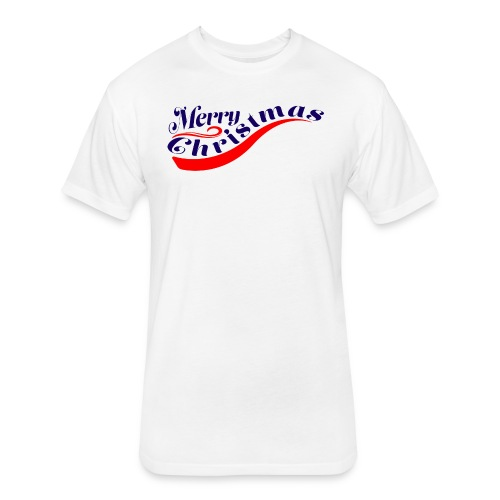 Christmas - Fitted Cotton/Poly T-Shirt by Next Level