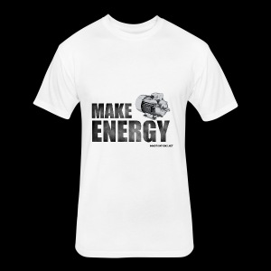 MAKE ENERGY - Fitted Cotton/Poly T-Shirt by Next Level