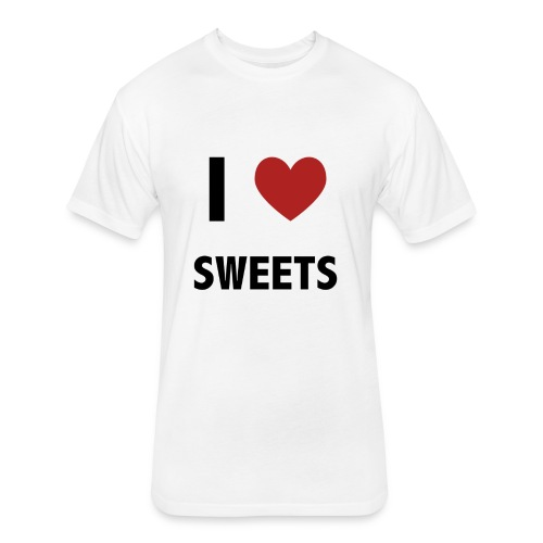 I Heart Sweets - Fitted Cotton/Poly T-Shirt by Next Level