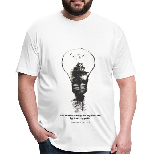 Psalm 119:105 - LAMP - Fitted Cotton/Poly T-Shirt by Next Level