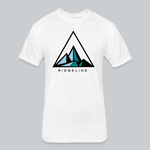 ridgeline aqua - Fitted Cotton/Poly T-Shirt by Next Level