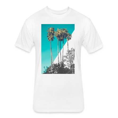 Blue Palms - Fitted Cotton/Poly T-Shirt by Next Level