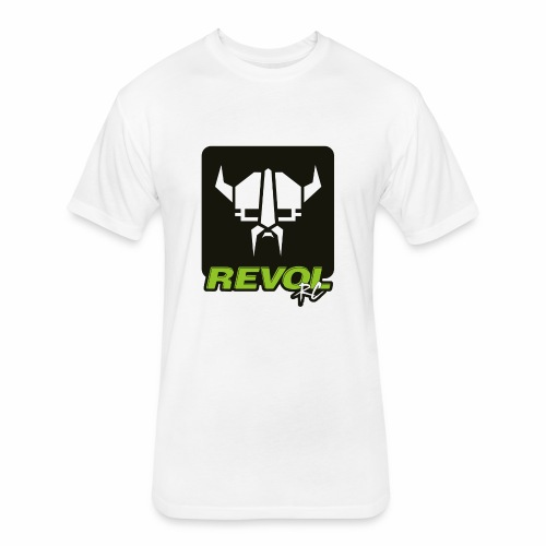 RevolRC Viking White on Black - Fitted Cotton/Poly T-Shirt by Next Level