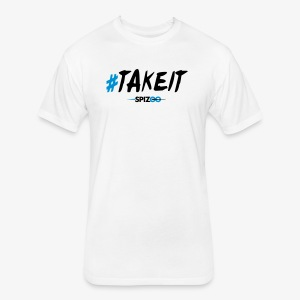 #takeit white - Spizoo Hashtags - Fitted Cotton/Poly T-Shirt by Next Level