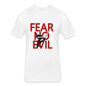 FEAR NO EVIL - Fitted Cotton/Poly T-Shirt by Next Level