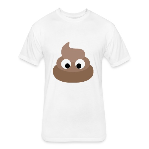 poop - Fitted Cotton/Poly T-Shirt by Next Level