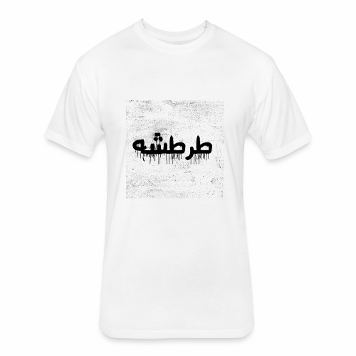 TARTASHA (BLACK & WHITE) - Fitted Cotton/Poly T-Shirt by Next Level