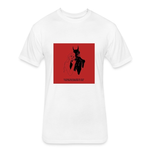 Dancing with the devil - Fitted Cotton/Poly T-Shirt by Next Level