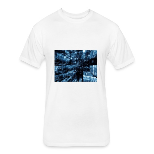 samuel live logo merch - Fitted Cotton/Poly T-Shirt by Next Level