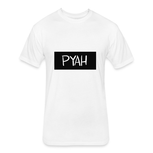PYAH Box Logo - Fitted Cotton/Poly T-Shirt by Next Level