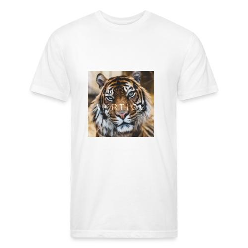 Tiger Vertigo - Fitted Cotton/Poly T-Shirt by Next Level