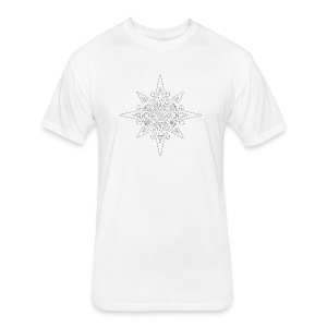 inca sun symbol contour - Fitted Cotton/Poly T-Shirt by Next Level